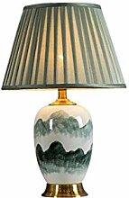 Lampe de table en céramique verte rétro maison