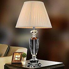 Lampe de table en cristal simple personnalité de