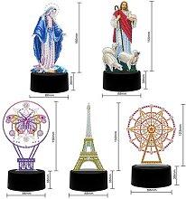 Lampe de Table en diamant 5D, 7 couleurs