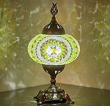 Lampe de table en mosaïque à piles avec ampoule