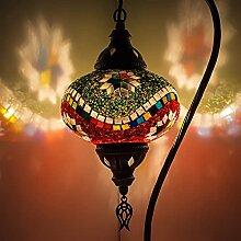 Lampe de table en mosaïque faite à la main,