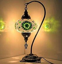 Lampe de table en mosaïque orientale turque