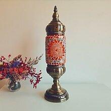 Lampe de table en mosaïque turque, nouveau style,