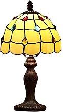 Lampe de table en verre coloré de 8 pouces Lampe
