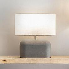 Lampe de table industrielle en béton