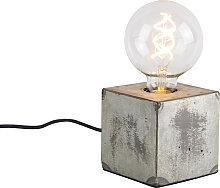 Lampe de table industrielle grise - Samia Sabo