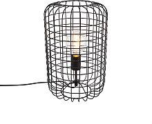 Lampe de table industrielle noire 40 cm - Bliss