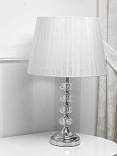 Lampe de table Jennifer cristal abat-jour moderne