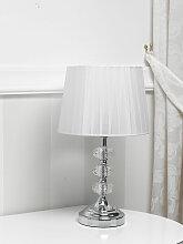 Lampe de table Jennifer cristal moderne abat-jour