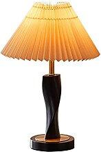 Lampe De Table Lampe de table de chevet plissée