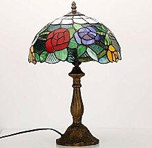 Lampe de Table Lampe de Verre coloré Abat-Jour +
