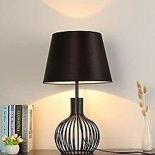 Lampe de table LCSD Noir Simple Tissu Artisanat