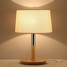Lampe De Table LED Bois Simple Et Chaleureuse De