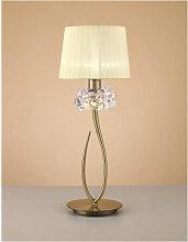 Lampe de Table Loewe 1 Ampoule E27 Big, laiton