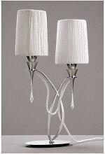 Lampe de Table Lucca 2 Ampoules E27, chrome poli