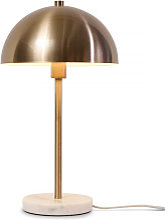 Lampe de table métal doré et marbre blanc