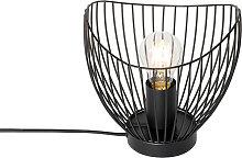 Lampe de table moderne noire 20 cm - Pua