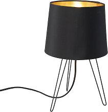 Lampe de table moderne noire - Lofty