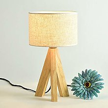 Lampe de table moderne nuit lumière lin abat-jour