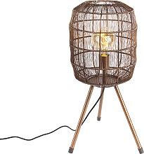 Lampe de table moderne trépied en cuivre - Refaire