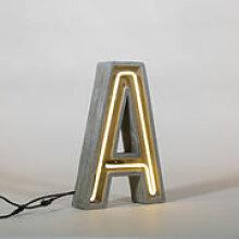 Lampe de table Néon Alphacrete / Lettre A -