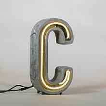 Lampe de table Néon Alphacrete / Lettre C -