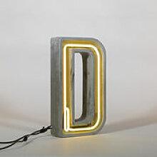 Lampe de table Néon Alphacrete / Lettre D -