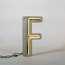 Lampe de table Néon Alphacrete / Lettre F -