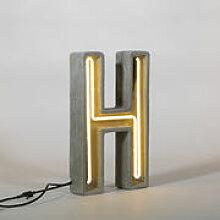 Lampe de table Néon Alphacrete / Lettre H -