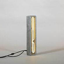 Lampe de table Néon Alphacrete / Lettre I -