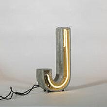 Lampe de table Néon Alphacrete / Lettre J -