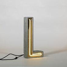 Lampe de table Néon Alphacrete / Lettre L -