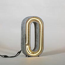 Lampe de table Néon Alphacrete / Lettre O -