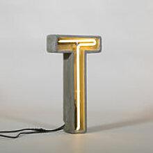 Lampe de table Néon Alphacrete / Lettre T -