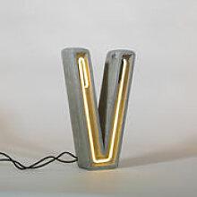 Lampe de table Néon Alphacrete / Lettre V -