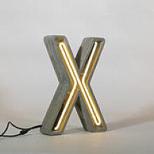 Lampe de table Néon Alphacrete / Lettre X -