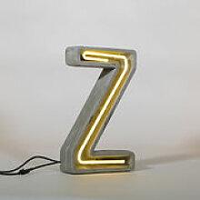 Lampe de table Néon Alphacrete / Lettre Z -