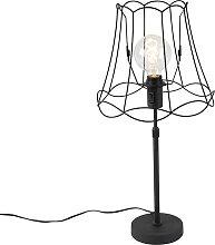 Lampe de table noir avec Granny Frame réglable 30