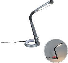 Lampe de table noire avec LED RGBV et connexion