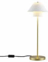 Lampe de table Oxford Double / Laiton satiné &