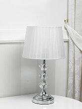 Lampe de table Penelope cristal moderne abat-jour