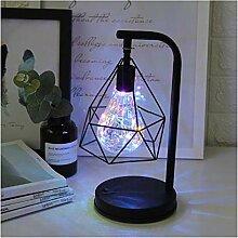Lampe de table Rétro Fer Art Minimaliste Lampe de