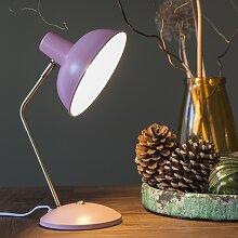 Lampe de table rétro rose avec bronze - Milou
