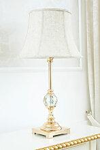 Lampe de table Roxanne or avec sphère en cristal