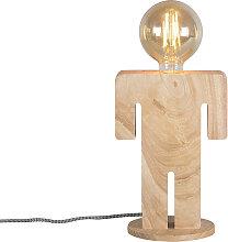 Lampe de table rurale bois - Adam