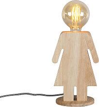 Lampe de table rurale bois - Eve