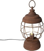 Lampe de table Rustique rouille - Lentera Qazqa