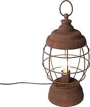 Lampe de table rustique rouille - Lentera