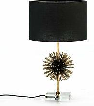 Lampe de table sans abat-jour design couleur dorée