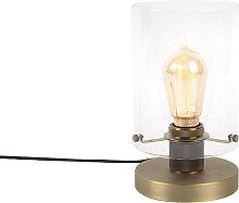 Lampe de table scandinave bronze avec verre - Dôme